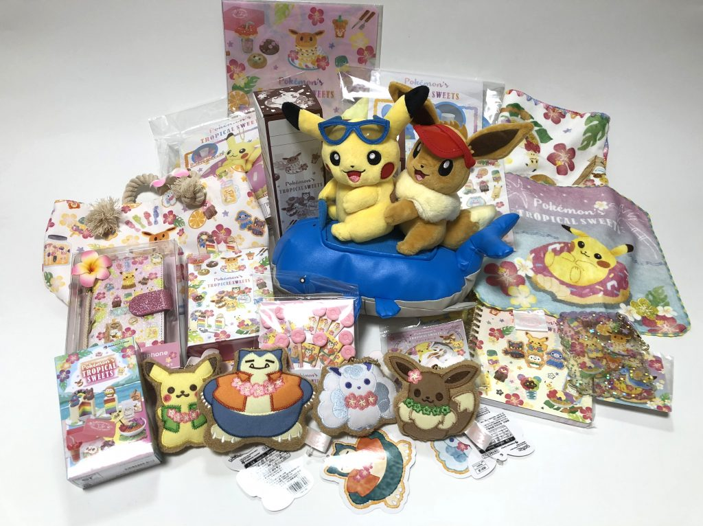 84039a3e8 The merchandise features Alolan Vulpix, Snorlax, Lapras, Eevee, Pikachu and  several other characters in a variety of merchandise all with an adorable  sweets ...